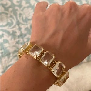 C.Wonder clear crystal and plated gold bracelet